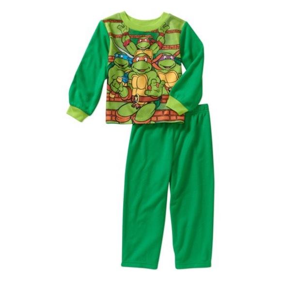 Teenage Mutant Ninja Turtles Pajamas 2pc Set Boys Sleepwear 2T 3T 4Toddler NWT
